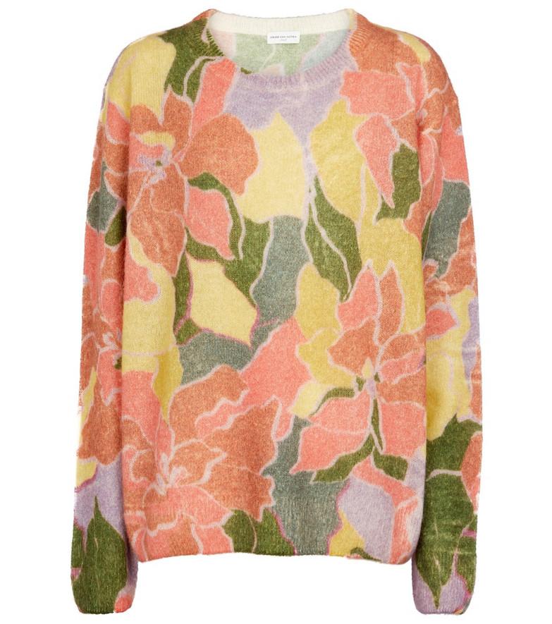Dries Van Noten Floral alpaca and wool-blend sweater