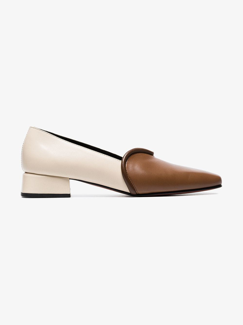 Boyy two-tone leather loafers in brown