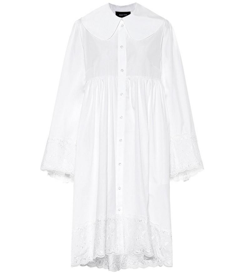 Simone Rocha Cotton-poplin minidress in white