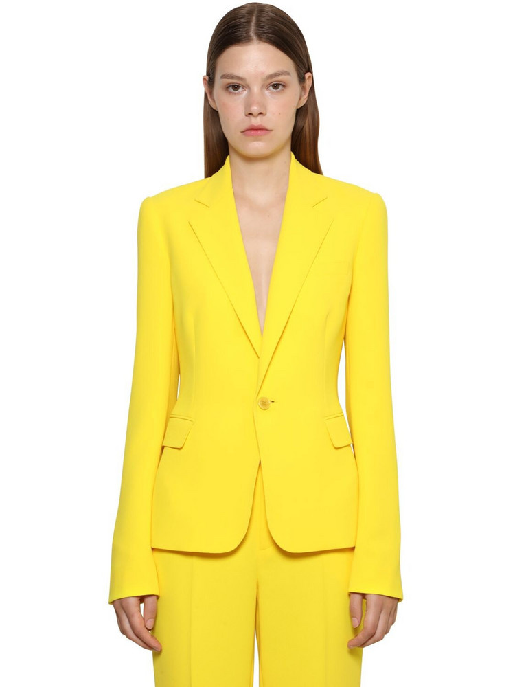 RALPH LAUREN COLLECTION Cady Crepe Fitted Jacket in yellow