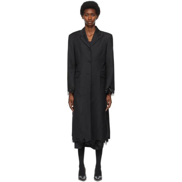 ADER error Black Lace Cinder Coat