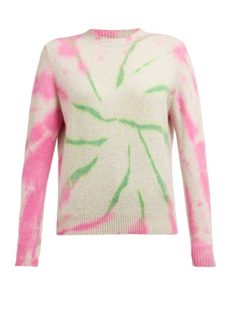 The Elder Statesman - Cyclone Tie Dyed Cashmere Sweater - Womens - Pink Multi