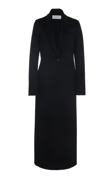 Gabriela Hearst Hamill Stitched Cashmere Coat in black