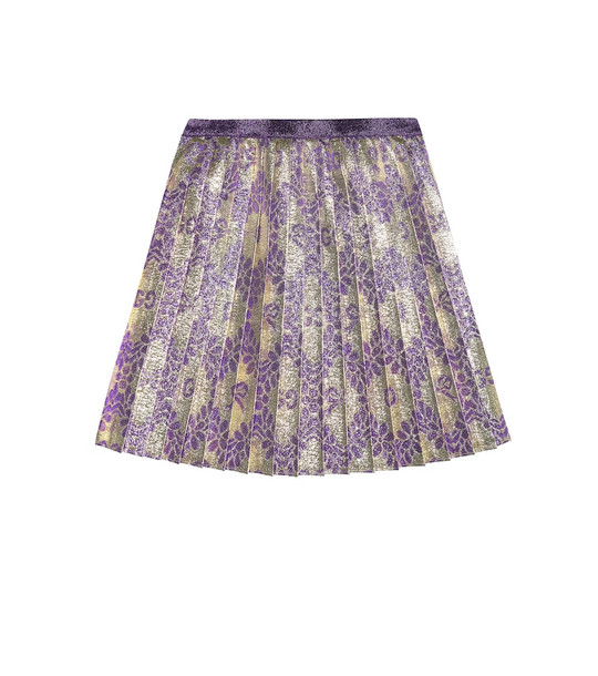 Gucci Kids Baby pleated brocade skirt