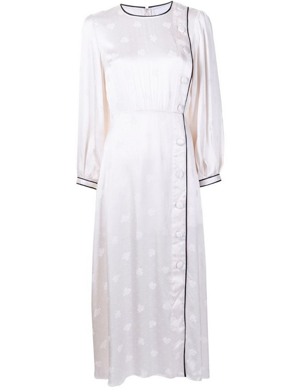 Alice McCall Hotel Loby button-detail midi dress in white