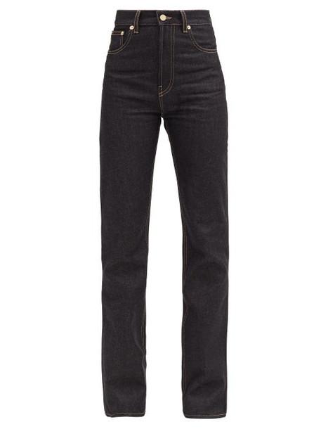 Jacquemus - Nîmes High-rise Straight-leg Jeans - Womens - Dark Denim