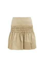 skirt,cotton,beige