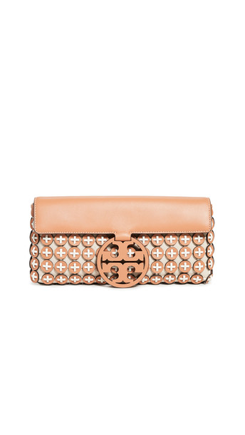 Tory Burch Miller Chainmail Clutch in ivory