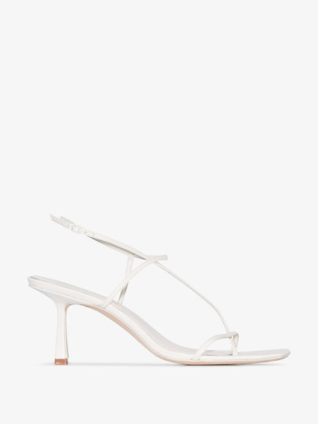 Studio Amelia white strappy leather sandals