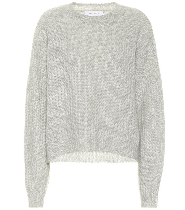 Ryan Roche Cashmere sweater in grey