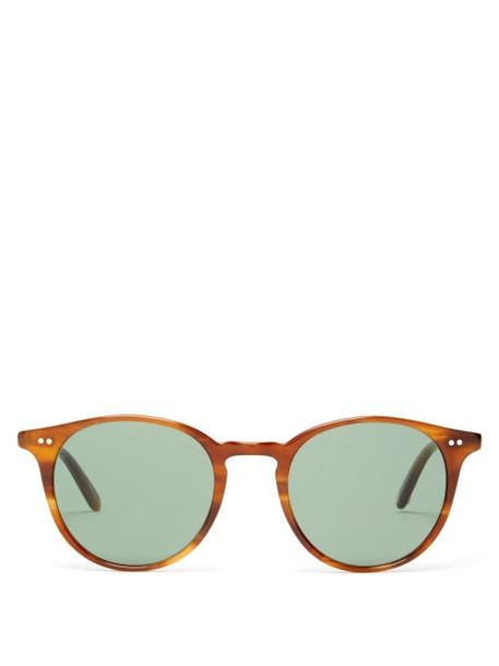 Garrett Leight - Clune Round Acetate Sunglasses - Womens - Tortoiseshell