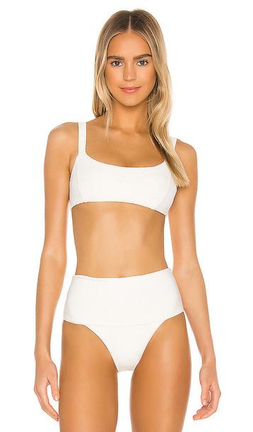 L*SPACE Jess Bikini Top in White