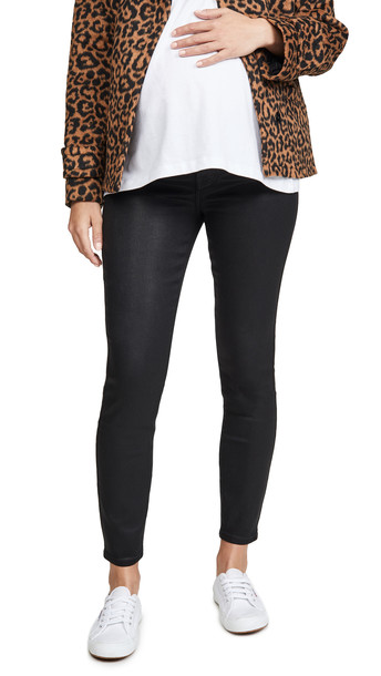 7 For All Mankind The Ankle Skinny Maternity Jeans in black