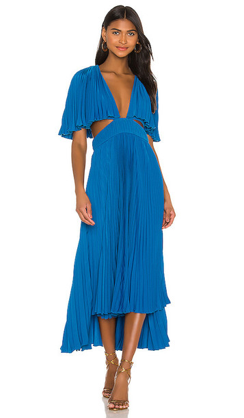 AMUR Dara Dress in Blue