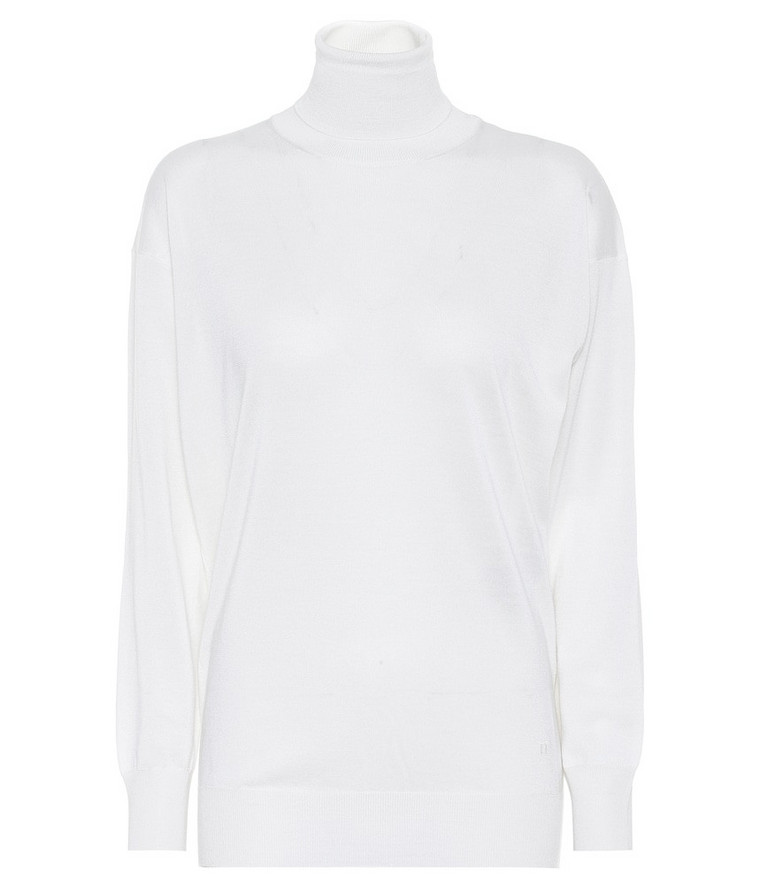 Tom Ford Cashmere and silk turtleneck sweater in white