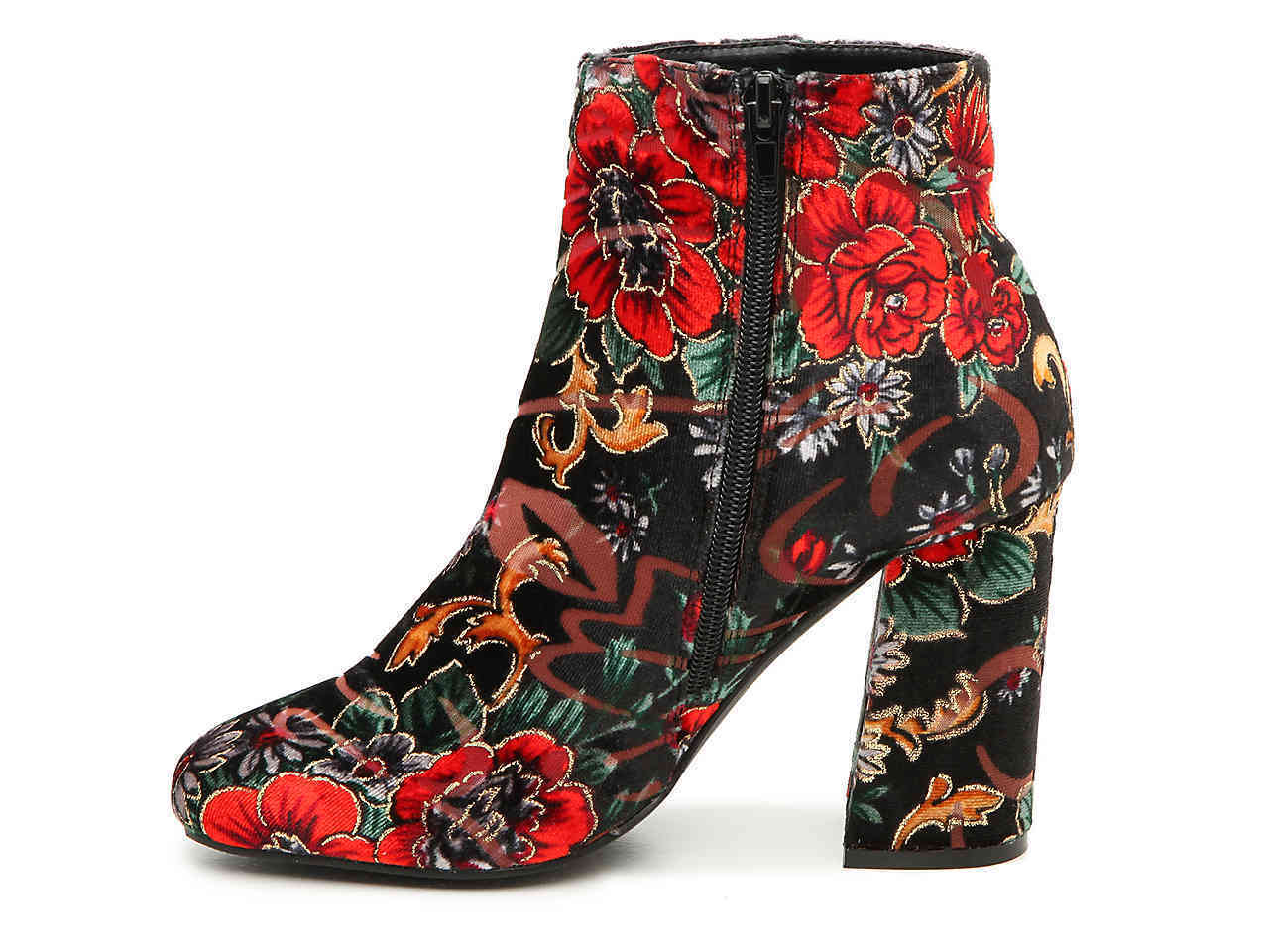 shoes floral boots boots high heeled boots embroidered boots suede boots booties