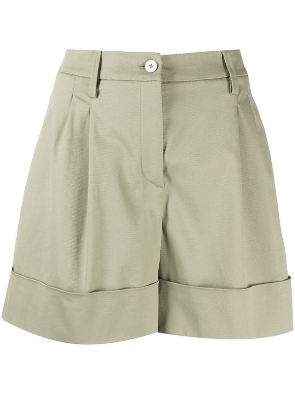 Fay high-waisted shorts in green