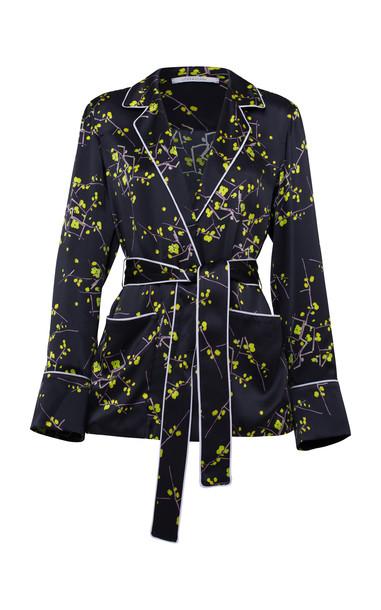 Dorothee Schumacher Cherry Blossom Silk Belted Jacket in multi