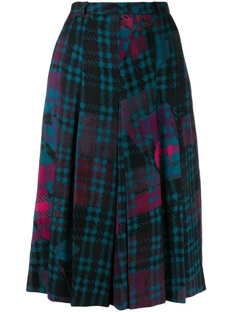 Jean Louis Scherrer Pre-Owned 1970's check midi skirt in blue