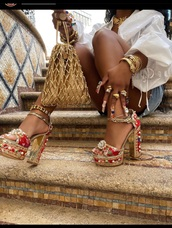 shoes,bejeweled,red heels,rhinestones,heels,instagram,platform shoes,high heels