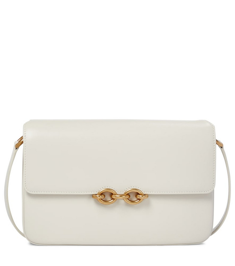 Saint Laurent Le Maillon leather shoulder bag in white