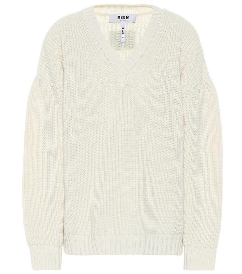 MSGM Wool-blend sweater in beige