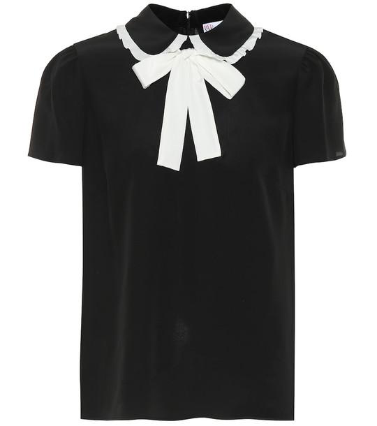 REDValentino Silk top in black
