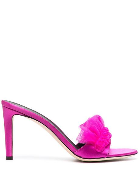 Giuseppe Zanotti mesh pleated sandals in pink