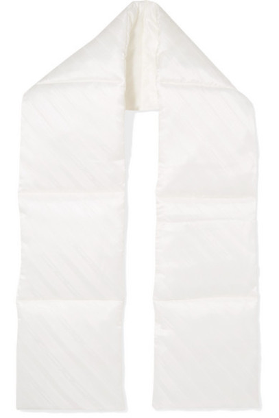 Commission - Quilted Shell-jacquard Scarf - White
