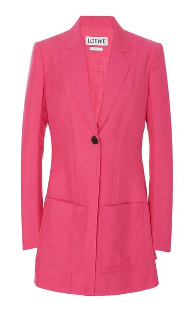 Loewe Mohair and Wool-Blend Blazer in pink