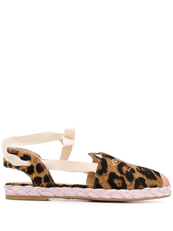 Charlotte Olympia Kitty leopard-print espadrilles in brown