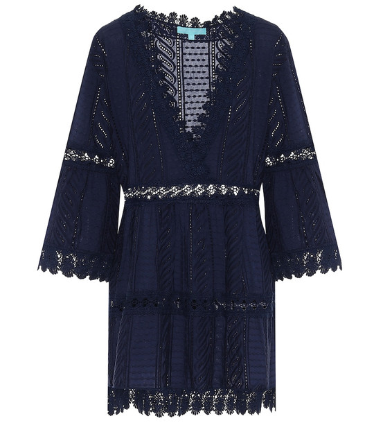 Melissa Odabash Victoria cotton cover-up in blue