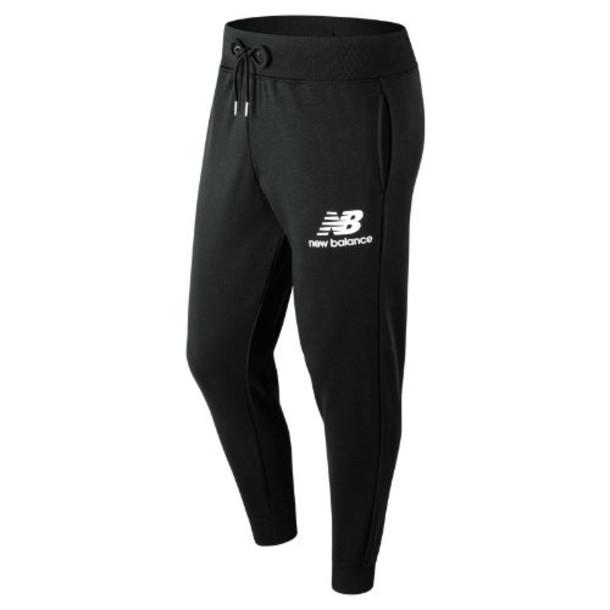 New Balance 91550 Men's Essentials Stacked Logo Sweatpant - Black (MP91550BK)