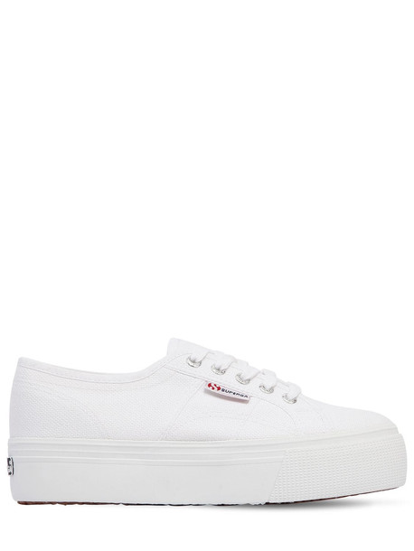 SUPERGA 40mm Canvas Platform Sneakers in white
