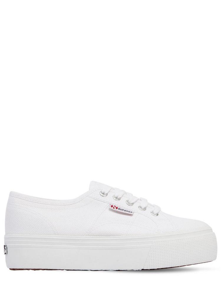 Steven Pace Espadrille Platform Sneakers WhiteGold