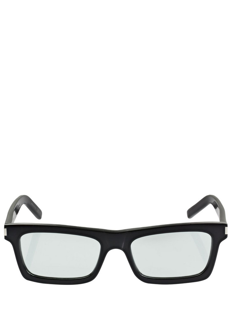 SAINT LAURENT Ysl Sl 461 Squared Acetate Sunglasses in black / green