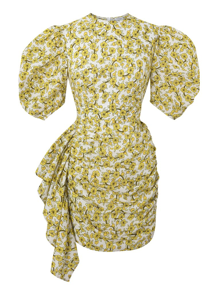 Pia Dress | Yellow Ditsy Floral