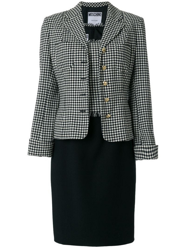 Moschino Pre-Owned dress and jacket suit in black