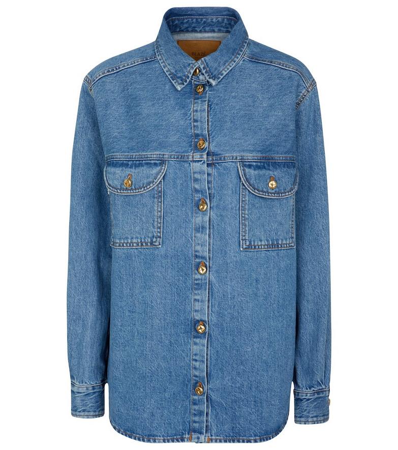 Blazé Milano Nariida Maya denim shirt in blue