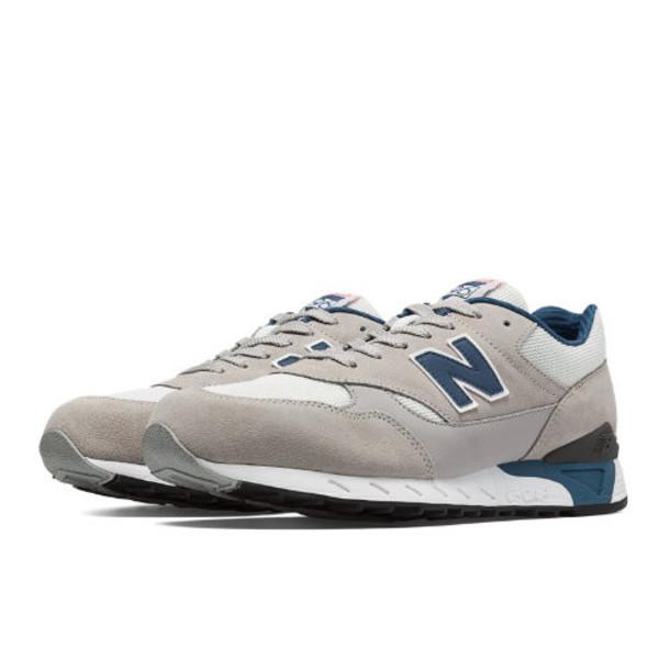 New Balance 496 80s Running Men's Running Classics Shoes - Alloy, White, Navy (CM496TGM)