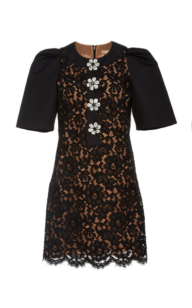 Michael Kors Collection Lace Shift Dress Size: 2 in black