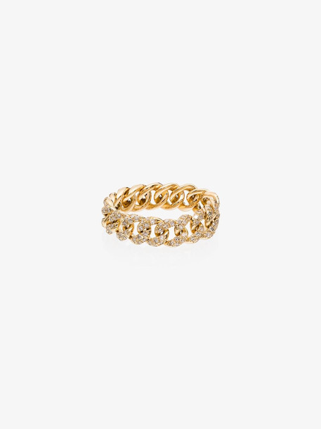 Shay 18K yellow gold link diamond ring