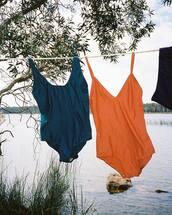 swimwear,orange swimsuit