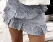 skirt,blue,white,skorts,ruffle