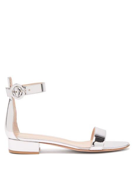 Gianvito Rossi - Portofino 20 Leather Sandals - Womens - Silver