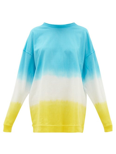 Arizona Love - Amy Tie-dye Cotton Sweatshirt Mini Dress - Womens - Blue Print