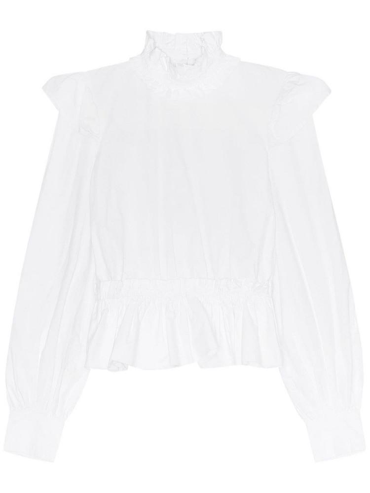 GANNI Organic Cotton Poplin Shirt in white