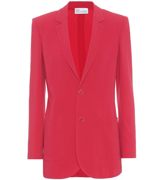 REDValentino Stretch-twill blazer in red