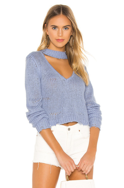 Lovers + Friends Thia Sweater in blue