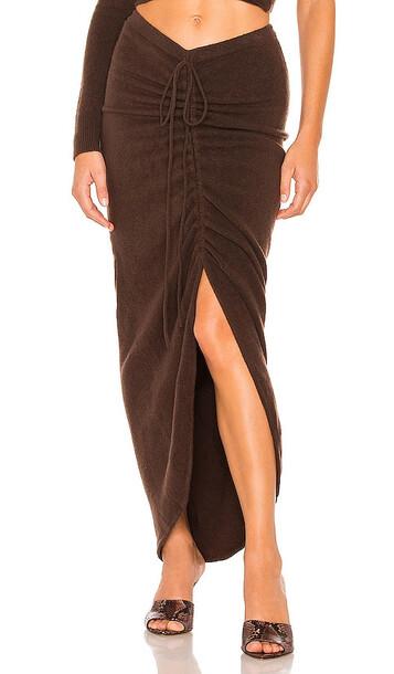 Ronny Kobo Zuna Knit Skirt in Chocolate